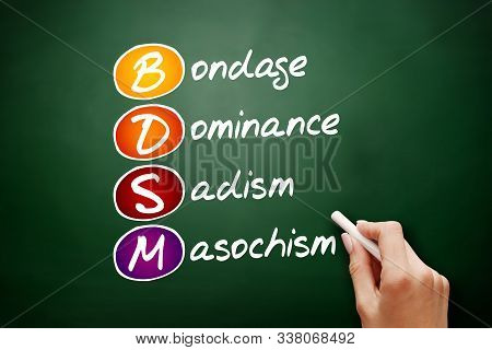Bdsm - Bondage, Dominance, Sadism, Masochism Acronym, Concept Background