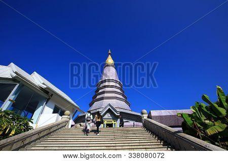 Phra Mahathat Naphaphon Phumisiri, Pagoda Represent The Queen Of Thailand At Doi Inthanon National P
