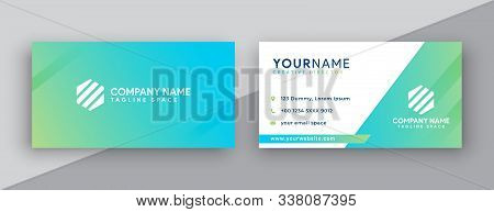 Business Card. Modern Business Card Design . Double Sided Business Card Design Template . Flat Orang