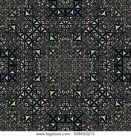 Colorful Seamless Kaleidoscope Pattern Background - Abstract Symmetrical Vector Wallpaper Graphic Fr