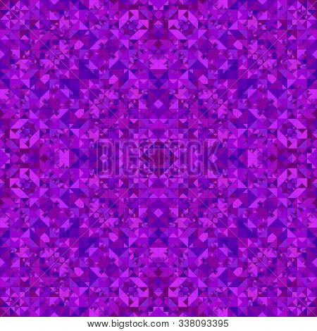 Purple Abstract Repeating Triangle Mosaic Kaleidoscope Wallpaper Pattern - Geometrical Vector Backgr