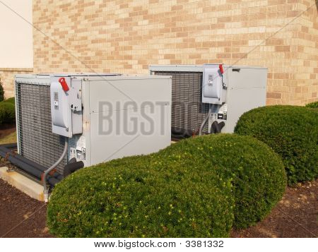Two Large Heavy Duty Air Conditioners