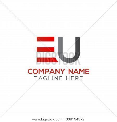 Initial Eu Letter Linked Logo. Creative Letter Eu Modern Business Logo Vector Template. Initial Eu L