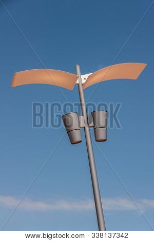 Melbourne, Australia - November 16, 2009: Artsy Contemporary Style Street Light Pole With Wings And