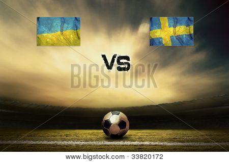Friendly soccer match between Ukraine and Sweeden