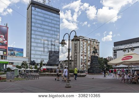 Nis, Serbia - June 15, 2019: Panoramic View Of The Center Of City Of Nis, Serbia