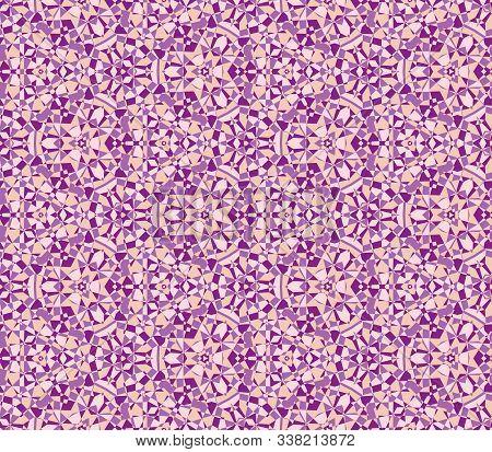 Abstract Geometric Diamond Background, Seamless Jewellery Texture, Crystal Kaleidoscopic Pattern