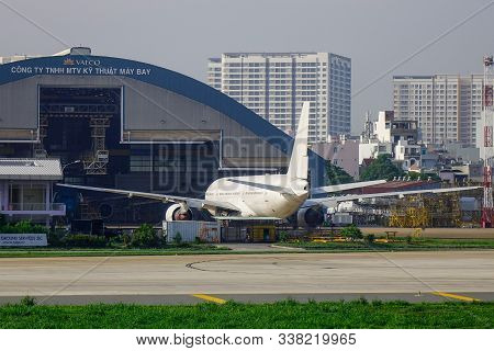 Passenger Airplane At The Airport