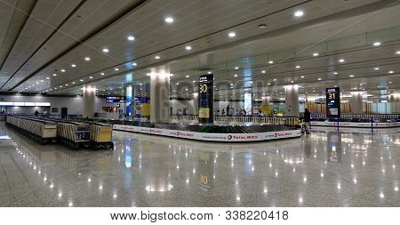 Shanghai, China - Jun 3, 2019. Baggage Claim In Arrival Terminal Of Shanghai Pudong Airport (pvg). T