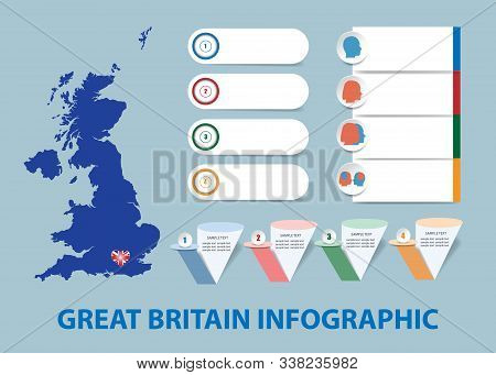 Infographic Template For Economic, Sociological, Demographic And Other Presentations. The Blind Map