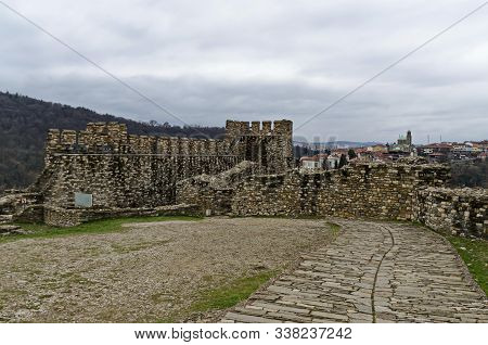 View From The Inside Outwards Of Main Entrance Of Tsarevets, Medieval Stronghold Located On A Hill W