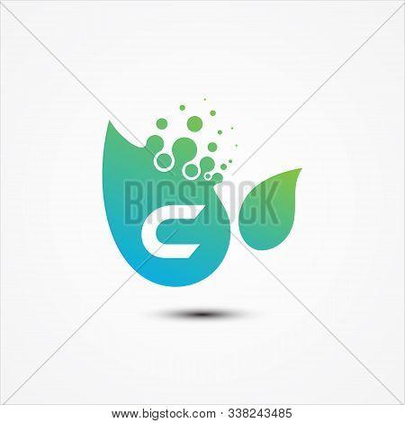 Leaf Vector Design With C Letter Symbol Design Minimalist. C Letter For Your Best Business Symbol. V