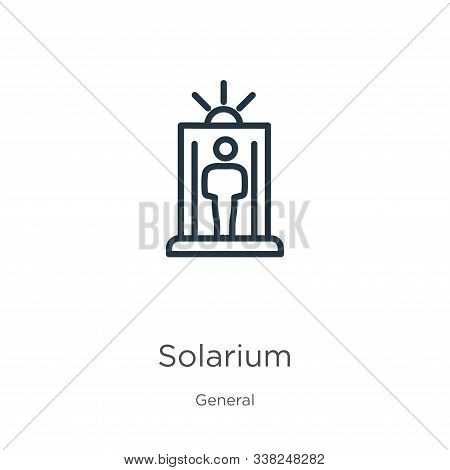 Solarium Icon. Thin Linear Solarium Outline Icon Isolated On White Background From General Collectio