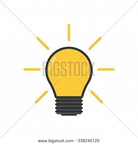 Light Bulb. Lamp, Incandescent Bulb. Vector Stock Illustration.