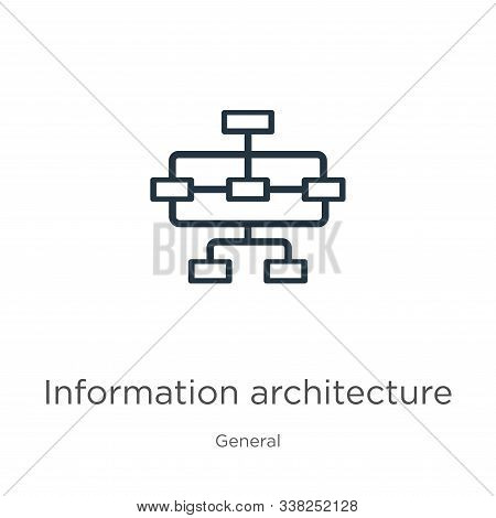 Information Architecture Icon. Thin Linear Information Architecture Outline Icon Isolated On White B