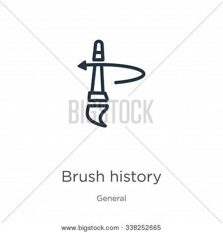 Brush History Icon. Thin Linear Brush History Outline Icon Isolated On White Background From General