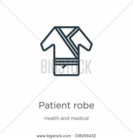 Patient Robe Icon. Thin Linear Patient Robe Outline Icon Isolated On White Background From Health An