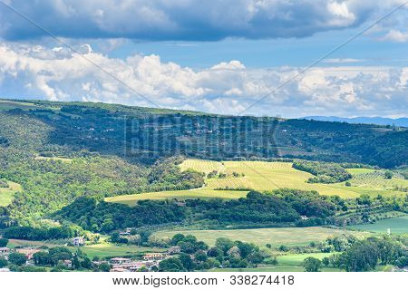Amazing Landscape Near Orvieto, Italy, Region Umbria.