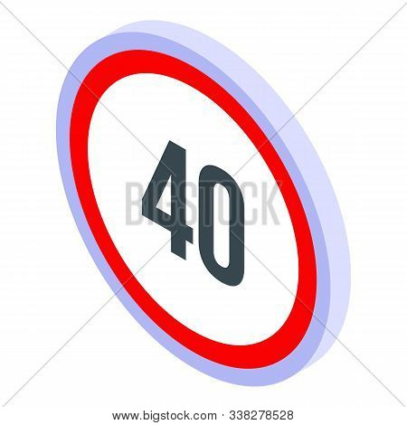 Maximum Speed Limit Icon. Isometric Of Maximum Speed Limit Vector Icon For Web Design Isolated On Wh