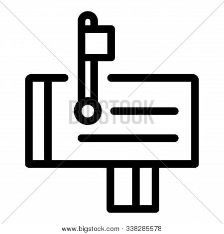 House Mailbox Icon. Outline House Mailbox Vector Icon For Web Design Isolated On White Background