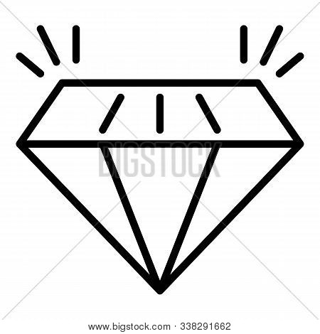 Expensive Diamond Icon. Outline Expensive Diamond Vector Icon For Web Design Isolated On White Backg