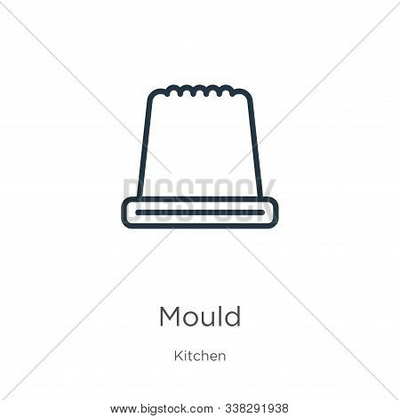 Mould Icon. Thin Linear Mould Outline Icon Isolated On White Background From Kitchen Collection. Lin