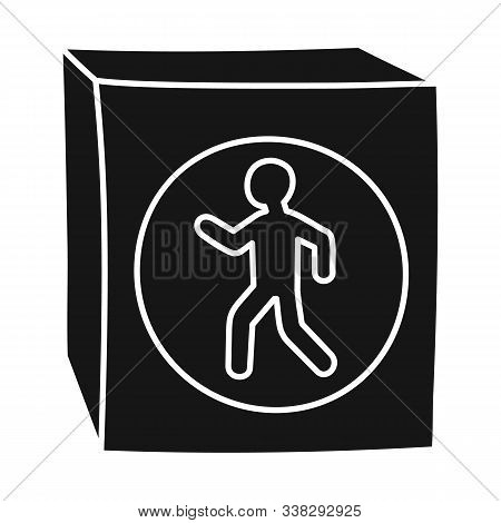 Isolated Object Of Stoplight And Signal Sign. Graphic Of Stoplight And Svetofor Vector Icon For Stoc