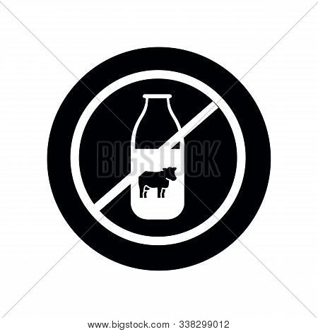 Milk Or Dairy Free Food Allergy Product Dietary Label Flat Vector Icon For Apps And Websites