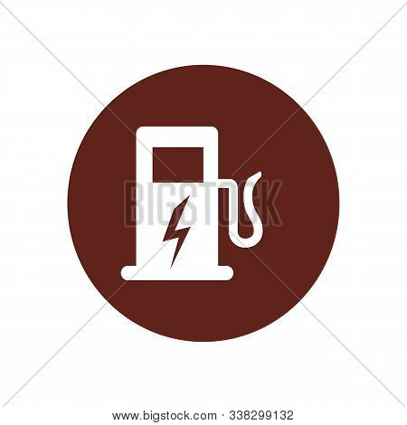 Electric Vehicle Charging Station Or Ev Charge Point For Electric Vehicles Cars Line Art Vector Icon