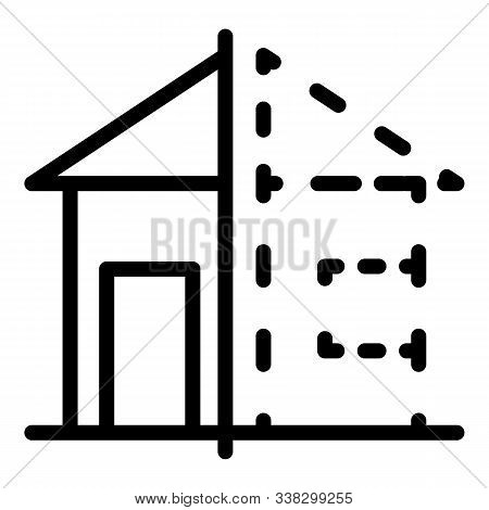 House Reconstruction Icon. Outline House Reconstruction Vector Icon For Web Design Isolated On White
