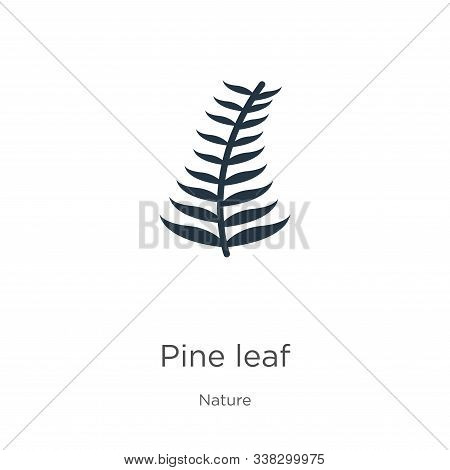 Pine Leaf Icon. Thin Linear Pine Leaf Outline Icon Isolated On White Background From Nature Collecti