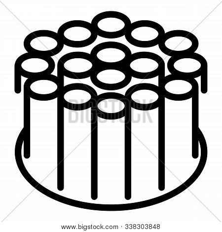 Stranded Fiber Optic Cable Icon. Outline Stranded Fiber Optic Cable Vector Icon For Web Design Isola