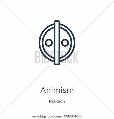 Animism Icon. Thin Linear Animism Outline Icon Isolated On White Background From Religion Collection