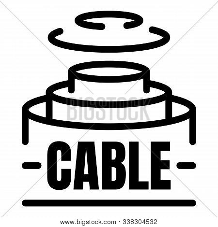 Fiber Optic Cable Structure Icon. Outline Fiber Optic Cable Structure Vector Icon For Web Design Iso