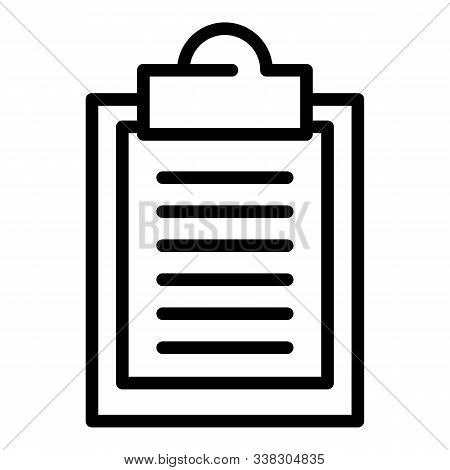Oculist Form Icon. Outline Oculist Form Vector Icon For Web Design Isolated On White Background