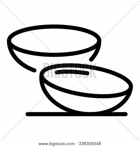 Contact Lenses Icon. Outline Contact Lenses Vector Icon For Web Design Isolated On White Background