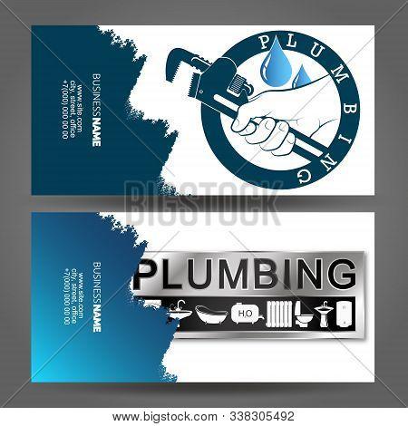 Business Card Concept Plumbing Repair And Maintenance