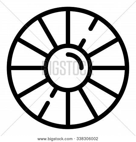 Retina Close Up Icon. Outline Retina Close Up Vector Icon For Web Design Isolated On White Backgroun