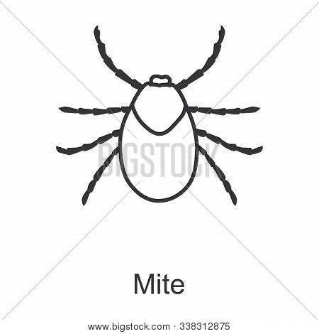 Mite Vector Icon.line Vector Icon Isolated On White Background Mite .