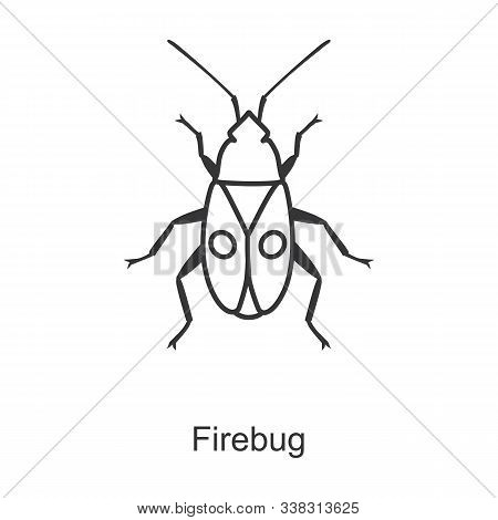 Firefly Vector Icon.line Vector Icon Isolated On White Background Firefly.