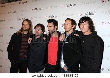 LOS ANGELES - NOV 16:  Maroon 5 arrives at the Google Music Launch at Mr. Brainwash Studio on November 16, 2011 in Los Angeles, CA