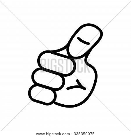 Black Line Icon For Me Gesture Myself
