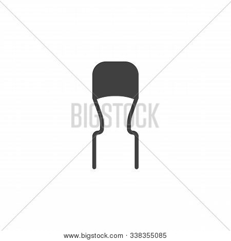 Resistor, Semiconductor Vector Icon. Filled Flat Sign For Mobile Concept And Web Design. Electronic