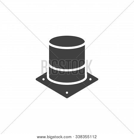 Electrolytic Capacitor Vector Icon. Filled Flat Sign For Mobile Concept And Web Design. Electronic C