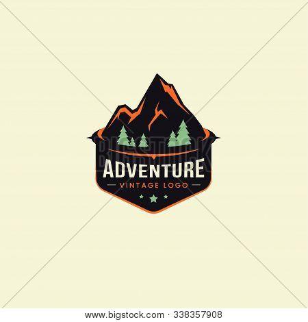 Adventure Logo, Mountain Logo Vector, Hills Logo, Mountain Symbol, Mountain Icon, Mountain Logo Temp