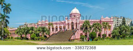 Dhaka,bangladesh - October 27,2019 - Panoramic View At The Ahsan Manzil - Mughal Palace In Dhaka. Dh