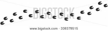 Footpath Trail Of Horse Or Deer. Vector Illustration
