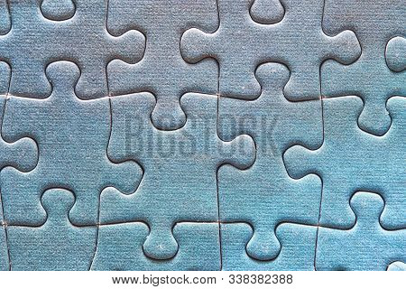 Jigsaw puzzle background, completed pattern