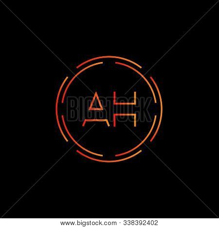 Initial Ah Letter Logo With Creative Modern Business Typography Vector Template. Creative Abstract L