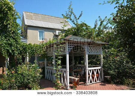 Beautiful Garden Alcove, Wooden Arbor, Pavilion, Bower, Summer House, Garden House For Relaxing